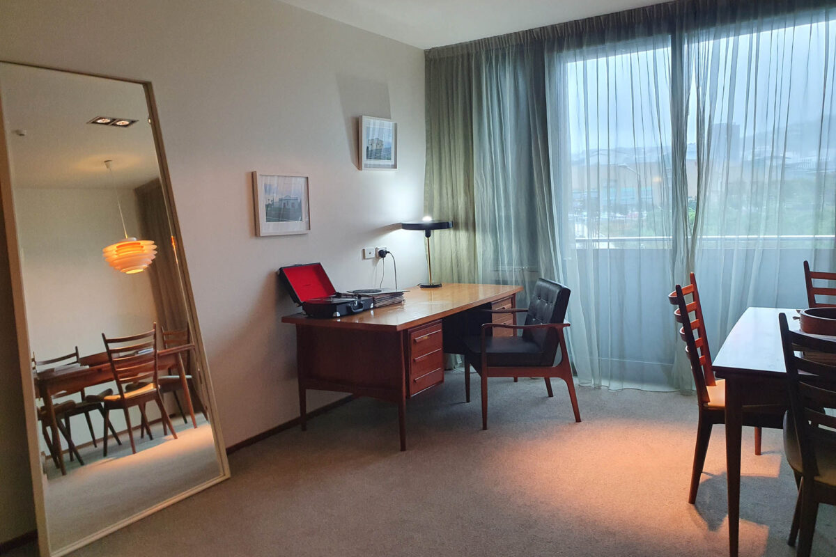Mirror, Desk, and Dining Table - Ohtel Suite
